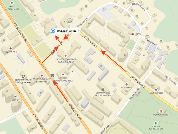 Интерактивная карта Брянска